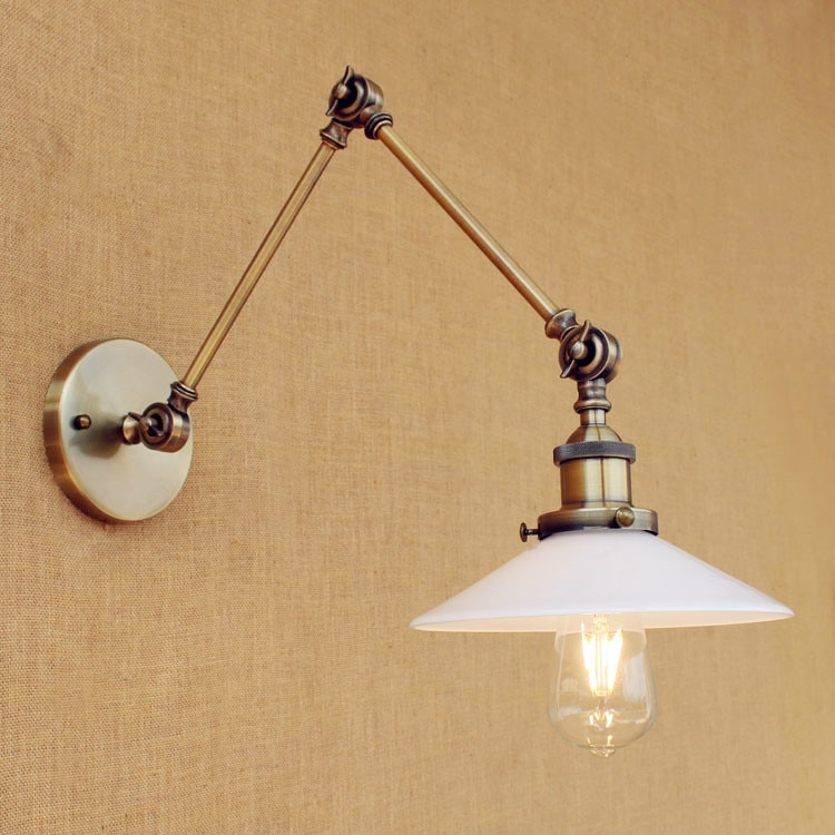 Loft Retro Vintage Wall Lamp Adjustable Swing Long Arm Wall Lights For Home LED Edison Industrial Wall Sconces Apliques Pared