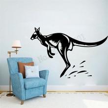 Sticker Mural animaux australiens kangourou décoration murale vinyle Art amovible Poster Mural belle décalcomanie ornement LY695