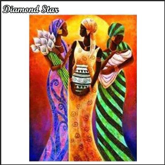 Diy pintura de diamante punto de cruz 5D decoración de mosaicos de diamante pintura completa manualidades con bordado de diamantes África
