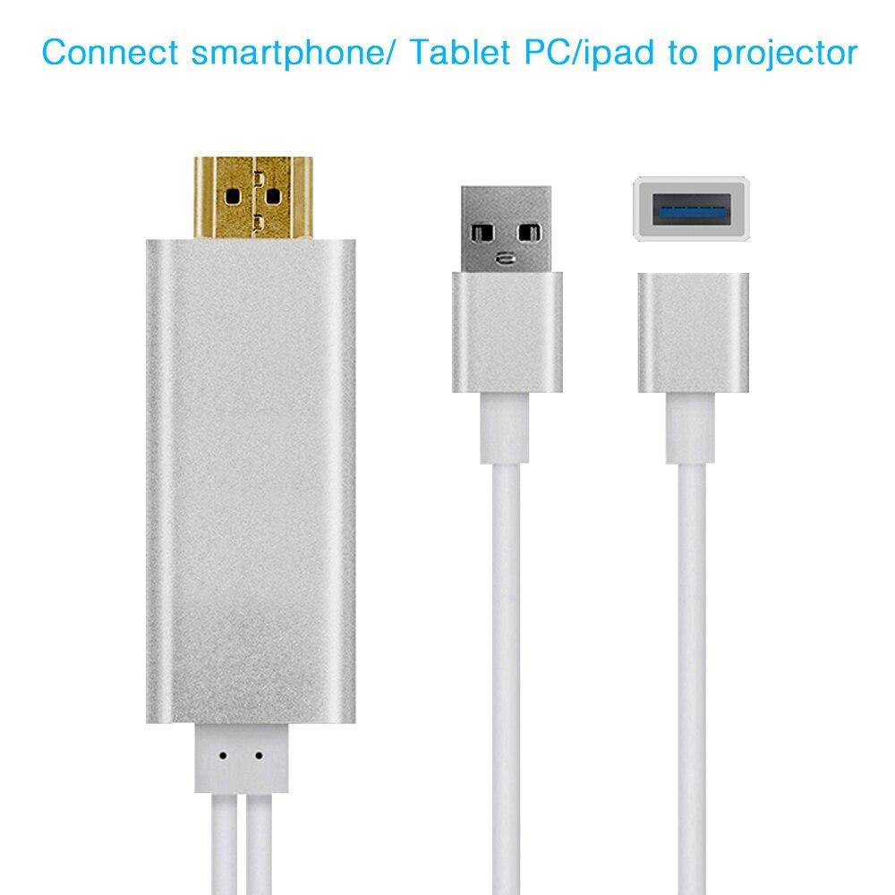 Cable HDMI, conexión BYINTEK proyector de juego para Iphone Ipad Smartphone Tablet