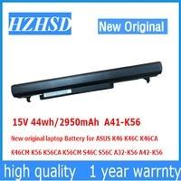 15V 44wh/2950mAh A41-K56 New original laptop Battery for ASUS K46 K46C K46CA K46CM K56 K56CA K56CM S46C S56C A32-K56 A42-K56