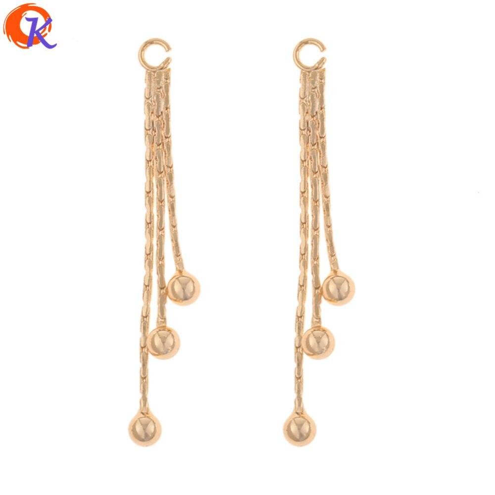 Diseño Cordial 30 piezas 3*30 MM accesorios de joyería/Fabricación de bricolaje/chapado en oro genuino/forma de borlas /hecho a mano/pendientes hallazgos