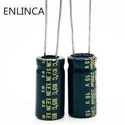 10 pçs/lote 10v 3300UF Low ESR/tamanho 10X20 Impedância de alta freqüência capacitor eletrolítico de alumínio 3300UF 20%