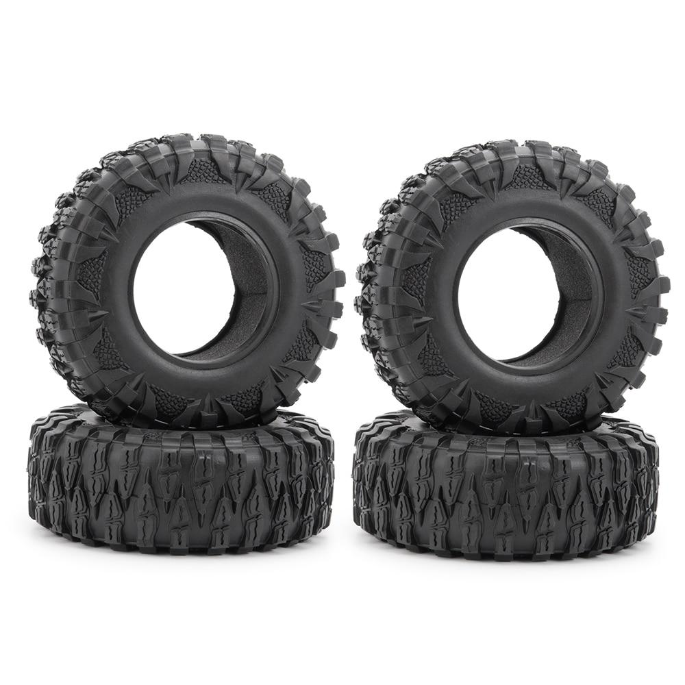 1/2/4/5 Uds. Neumáticos de rueda de Metal de 2,2 pulgadas Piel de neumático de goma (120mm) para 110 RC Crawler Axial SCX10 90046 D90 D110
