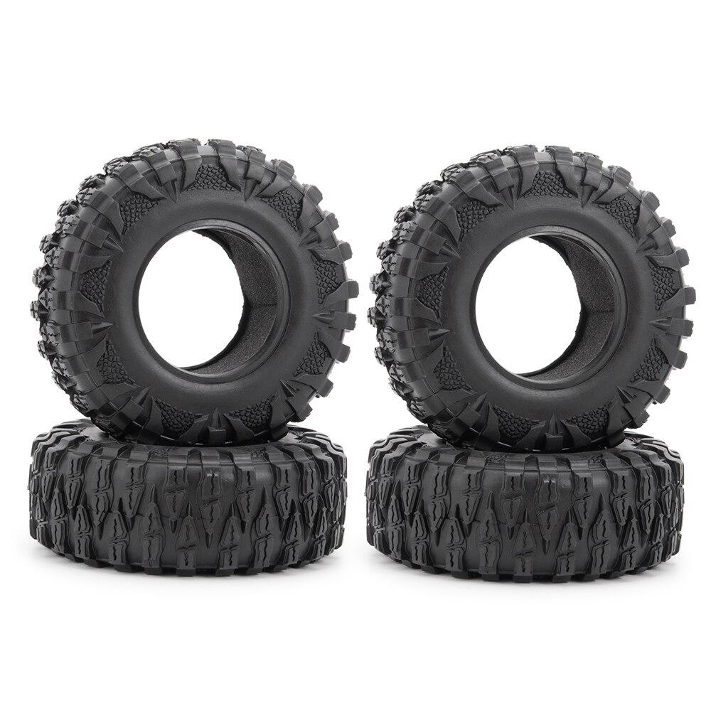 Pneus de roda de metal de 2.2 polegadas, 1/2/4/5 peças de pneu de borracha (120mm)) para 110 rc crawler axial scx10 90046 d90 d110