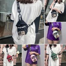 New Unisex Shoulder Packs Purse Chest Bags Back Pack Travel Cashier Belt Hip-hop Rock Boys Girl Bag Fashion Shoulder Small Bag