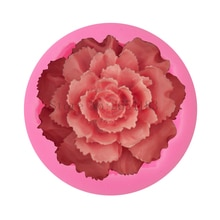 Moule à gâteaux en forme de Rose Silicone   Grande Rose, savon de Fondant 3D, moule à Cupcake, gelée de chocolat, outils de décoration, moules de cuisson FQ3318