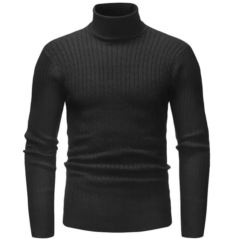 Зимний толстый теплый свитер с высоким воротом мужские брендовые свитера