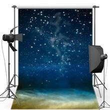 Фон для фотосъемки с изображением звездного голубого неба звезды космоса Галактики, виниловые тканевые фоны высокого качества с компьютер...