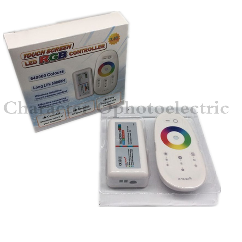 2.4G RF Wireless full touching screen LED RGB Remote Controller 12V/24V WiFi Compatible for 5050/3528 RGB led strip
