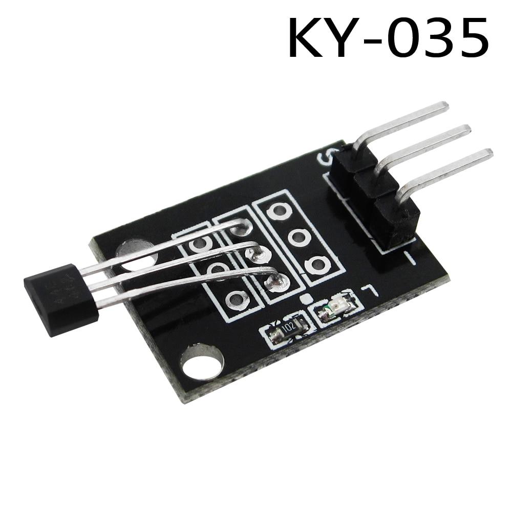 ¡10 Uds 3pin! Módulo sensor magnético de pasillo analógico Bihor de clase KY-035, Kit de inicio Diy KY035