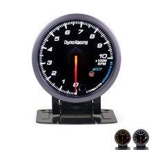 Dynoracing 60MM Auto Auto Tachometer 0-10000 RPM Gauge RPM Black Gesicht Meter Mit Weiß & Bernstein Beleuchtung auto meter