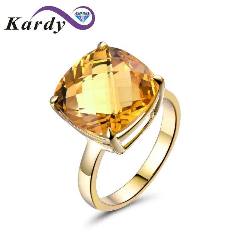 خاتم خطوبة عتيق من الذهب الأصفر عيار 14 قيراطًا مرصع بالكريستال والسترين الطبيعي ، خاتم خطوبة ، عتيق ، 9.67 قيراط