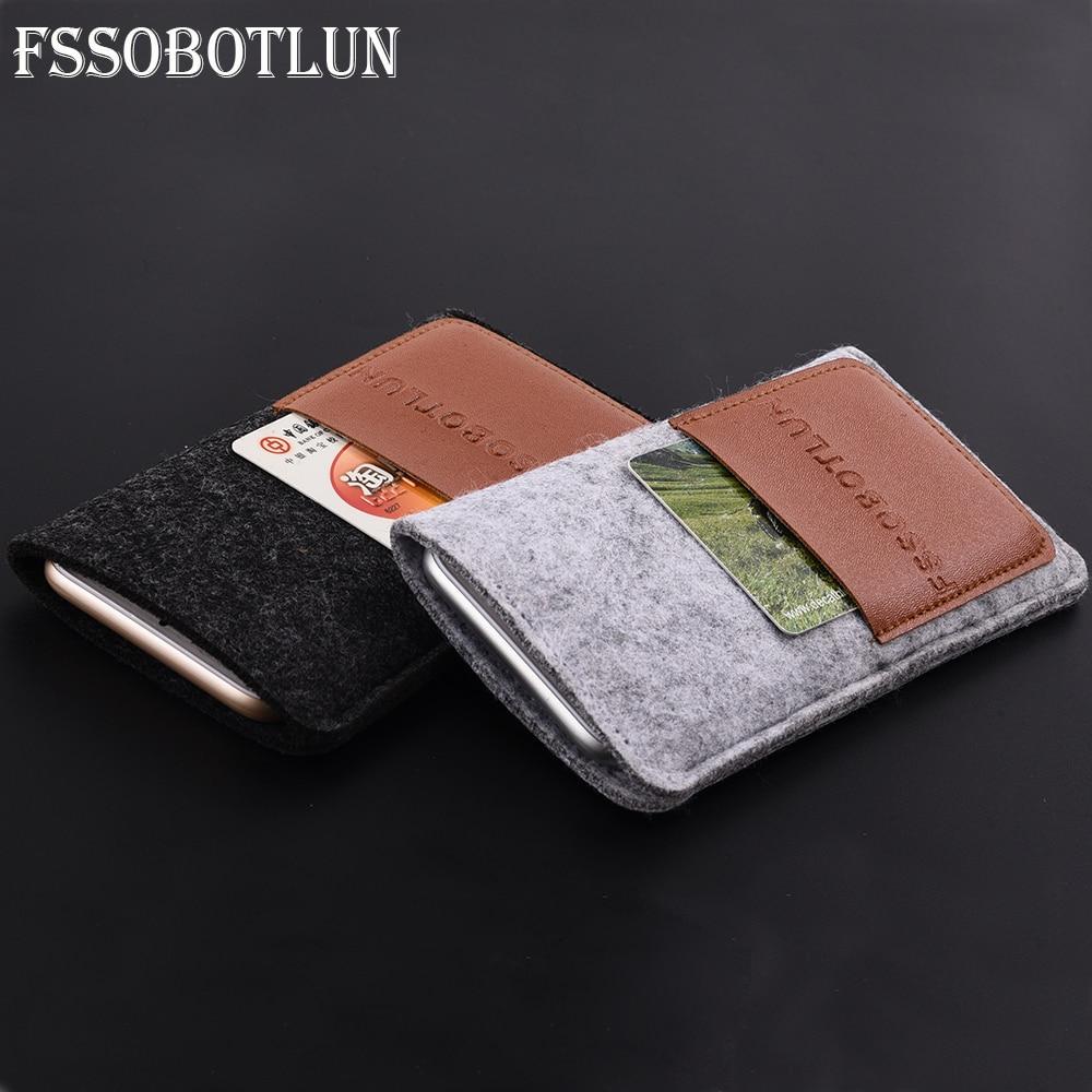 "FSSOBOTLUN, 6 estilos para Zopo Color C5i 5,0 ""funda protectora de bolsillo de tarjeta hecha a mano de lana fieltro bolso de La Manga del teléfono"