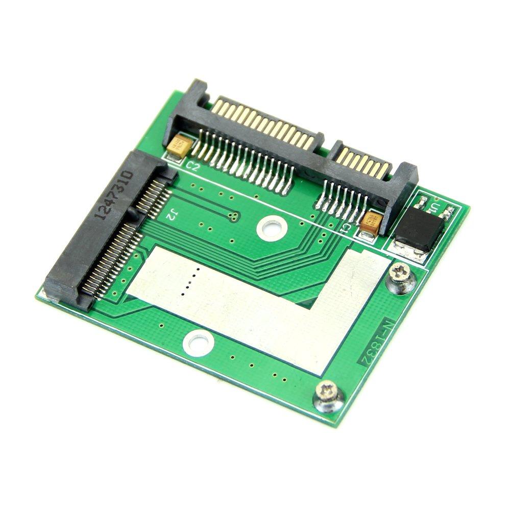 "YOC-Mini NEW PCI-E Half Height mSATA SSD to 7mm 2.5"" SATA 22pin Hard Sisk Drive PCBA"