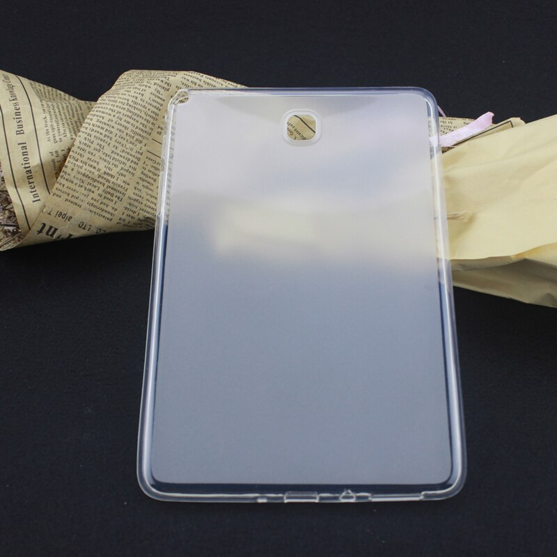 Miękka TPU etui na Tablet do Samsung Galaxy Tab 8.0 SM T350 T351 P355 P350 SM-T350 SM-T355 8 cal matowe etui SM-P350 SM-P355