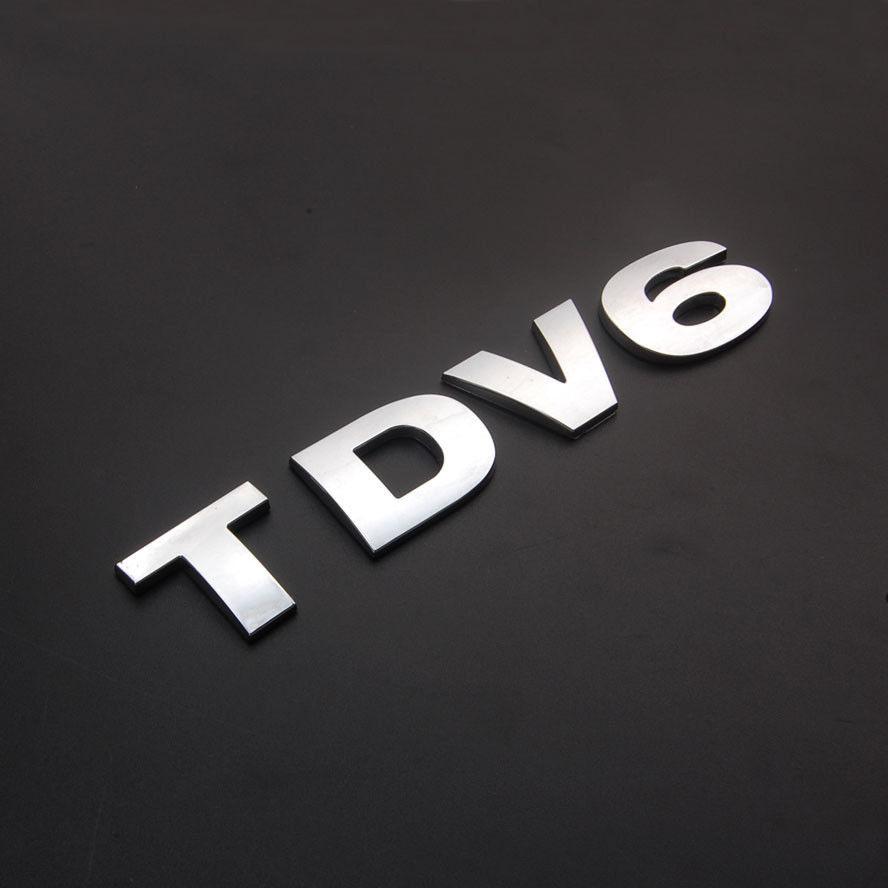 Chrome Car Auto Truck TDV6 ABS Emblem Badge Sticker for Ranger Rover LR3 LR4 HSE Vogue Sport ect.