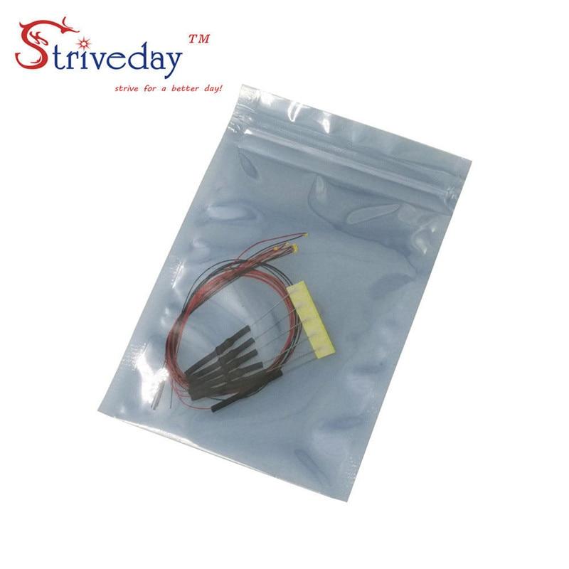 10 pçs/lote 9 cores podem ser selecionadas 8 V-12 V 0603 Pré-soldada micro litz SMD LED levou com fio leva 20 cm DIY