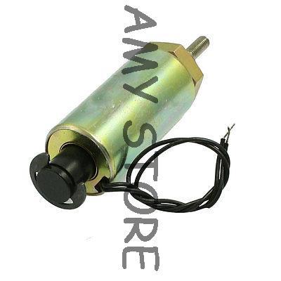 18mm Stroke 0.3N Push Type Linear Tubular Solenoid DC 24V 1.2A