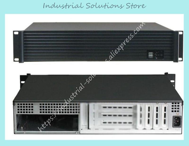 New 2U Computer Case Quality Aluminum Panel 2U Server Computer Case Firewall Ros Computer Case Card