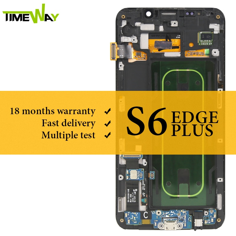 Super AMOLED For Samsung S6 Edge Plus LCD Dispaly With Frame Touch Screen Assembly For Samsung G928F LCD Digitizer