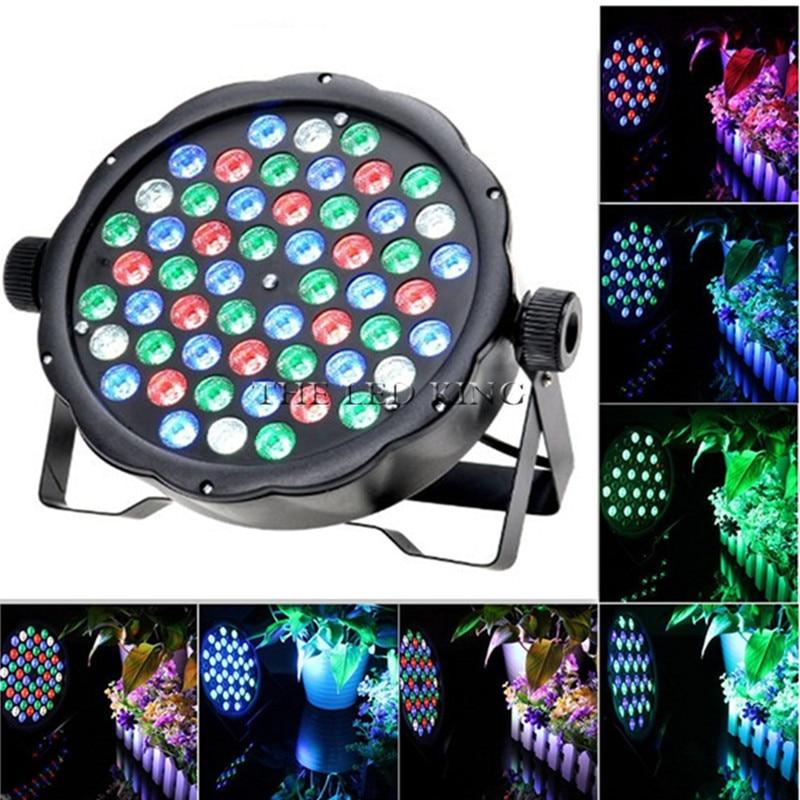 1 unids/lote 4X 6X 10X Par luz led x 54x3 impermeable par 54 led rgbw Ip 20 rgbw led par 64