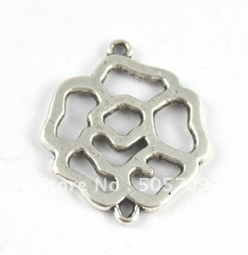 Jewelry Making 60PCS Tibetan sivler Metal Rose connector Links A15427