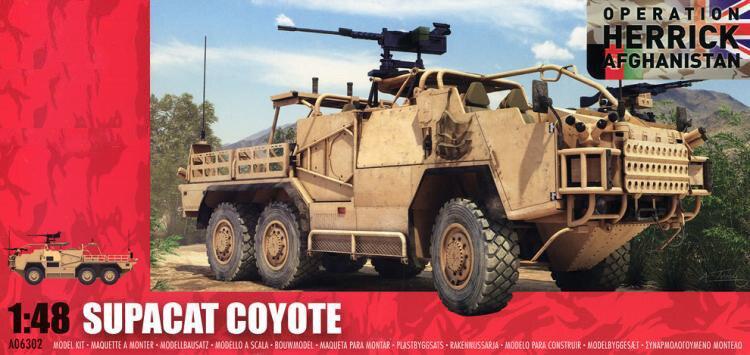 Kit de construcción, modelo de plástico, 06302 Airfix, escala 1/48, Ejército Británico, supergato, coyote, HMT600