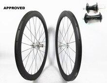 Farsports FSC50-TM-23 blanc industrie T11 50mm 23mm haut de gamme chine vélo roue en carbone, basalte freinage UD mat jante en carbone