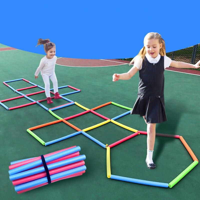 Divertido esponja saltar treliça esportes pular corda escada ao ar livre pai-filho jogo saltar brinquedos de esportes ao ar livre das crianças brinquedos educativos