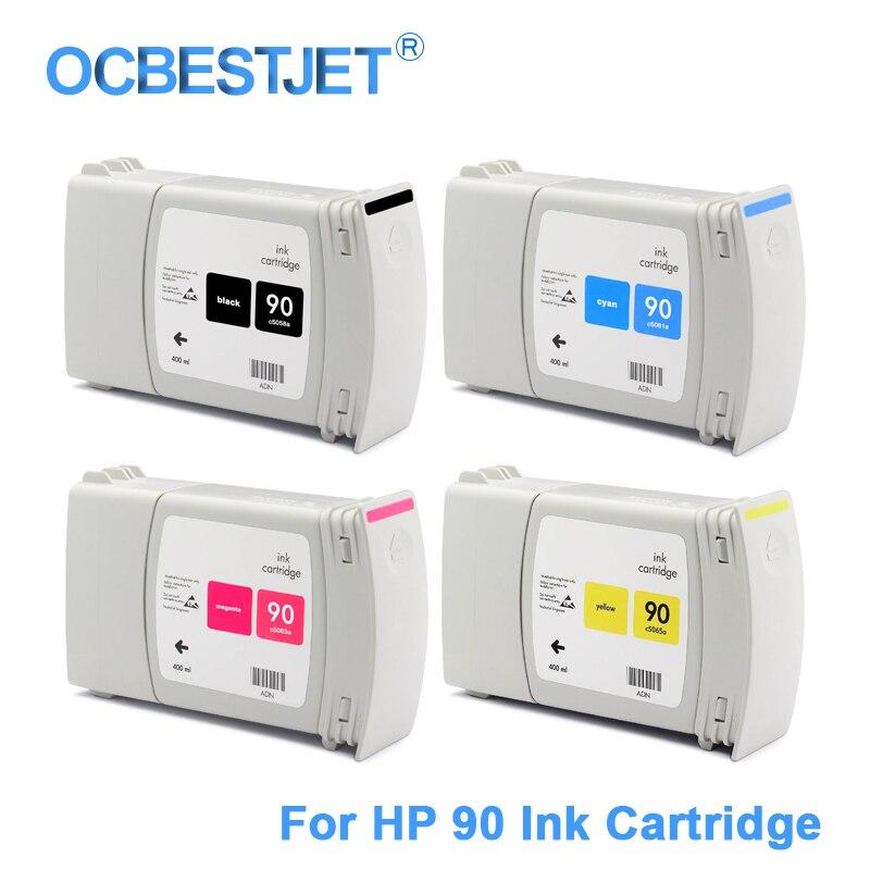 [Marca de terceros] cartucho de tinta de repuesto HP 90 para HP DesignJet 4000 4000ps 4020 4500 4520 (4 colores disponibles)
