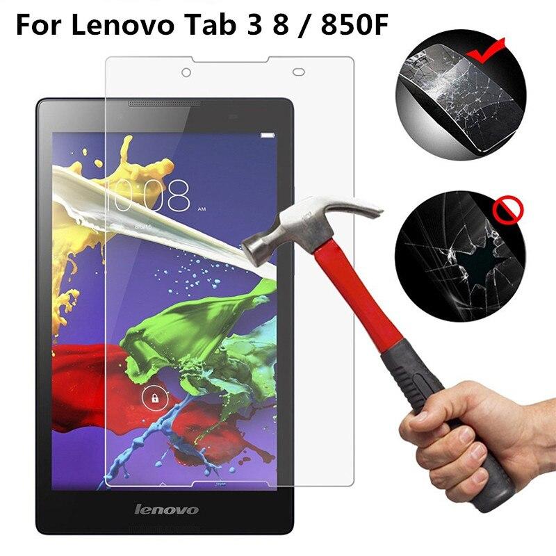 9 h vidro temperado para lenovo tab 3 8 8 plus 8.0 polegada 850f 850 m 850l 850 tb-8703x TB-8703F TB-8703N p8 tablet protetor de tela