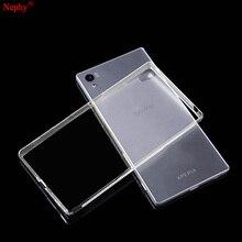 Nephy macio caso claro para sony xperia z2 z3 plus z4 z5 m4 aqua m5 x xa xz xp x desempenho compacto telefone celular capa traseira embalagem
