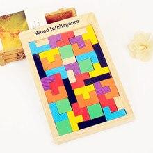 3D Puzzles en bois Puzzle conseil jouets Tangram cerveau Teaser enfants Puzzle jouets Tetris jeu éducatif enfant jouets cadeaux nouvel an