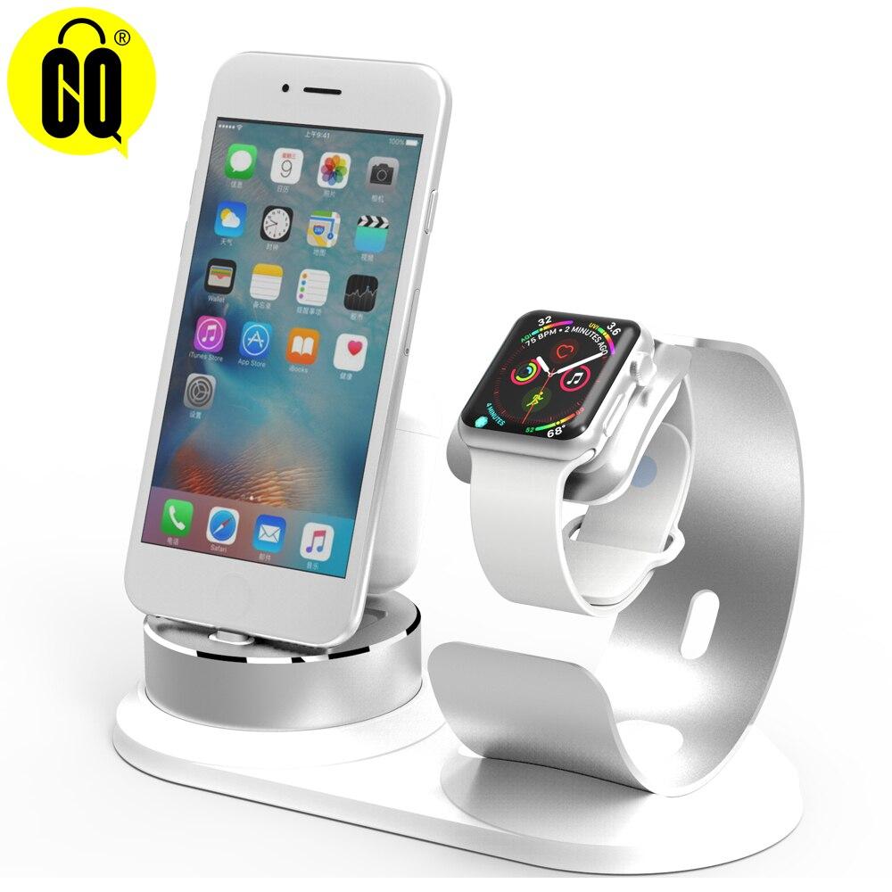 Soporte Estación De Carga multifunción para iPhone X XR XS Max 8 7 6S 6 Plus SE para cargador de Apple Watch