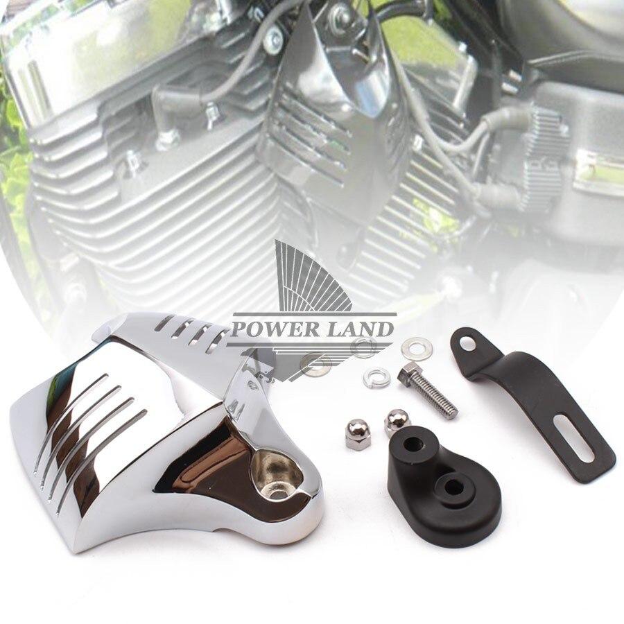 Cubierta negra de bocina doble grande para motocicletas, Stock de campana de bocina para Harley Dyna Softail Sportster Electra Road King Street Tour Glide
