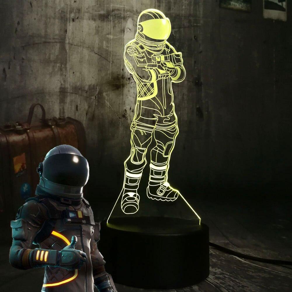 Новая игра PUBG TPS Cool Battle Royale Dark Voyager 3D LED ночник 7 видов цветов Настольная лампа детский дом Декор свет рождественский подарок
