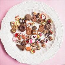 100PC/Set Chocolate chip cookies Donut DIY Resin Crafts Accessories DIY Fridge Decoration DIY Phone Case Accessories