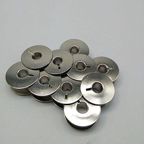 10 bobinas metálicas para máquinas acolchadas Brother Pfaff vikingo #55623S