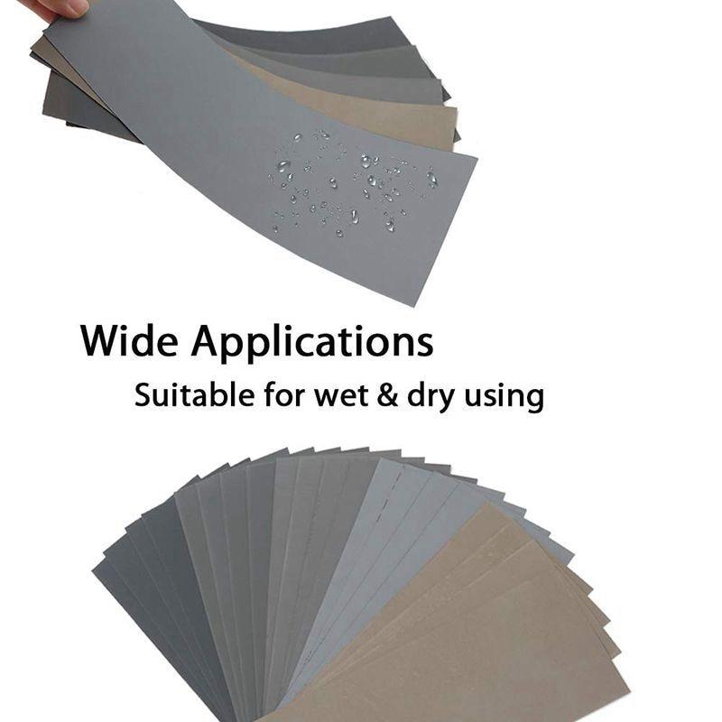 Carta vetrata a secco da 20 pezzi, assortimento di fogli di carta - Utensili abrasivi - Fotografia 5