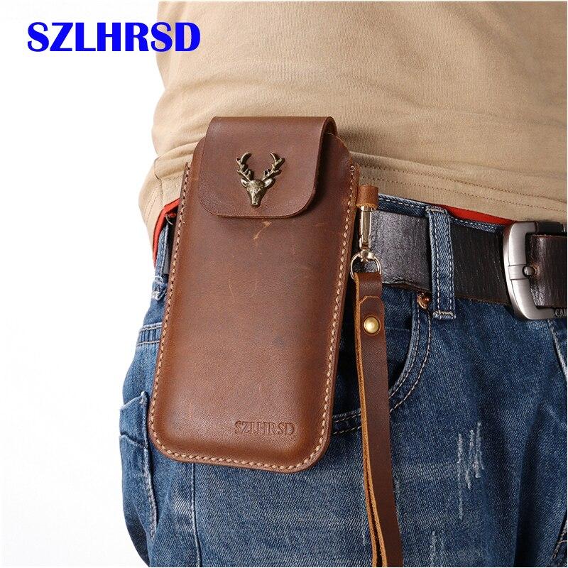 SZLHRSD для завоевания S9 Зажим для ремня Кобура чехол для завоевания S11 натуральная кожа поясная сумка чехол для завоевания S12 S8