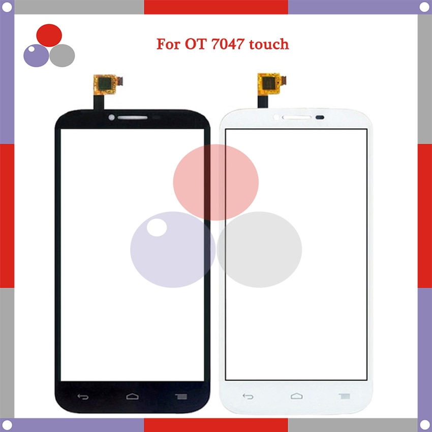 Alta calidad para Alcatel One Touch POP C9 7047/7047D/OT 7047/OT7047 Panel táctil cristal Lente de Cristal frontal pantalla