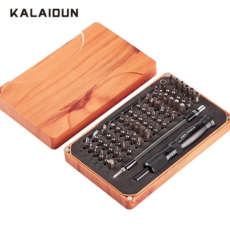 KALAIDUN 69 in 1 Präzision Schraubendreher-set mit 66 Bit Magnetische Fahrer Kit Hand Werkzeuge Elektronik Repair Tool Kits