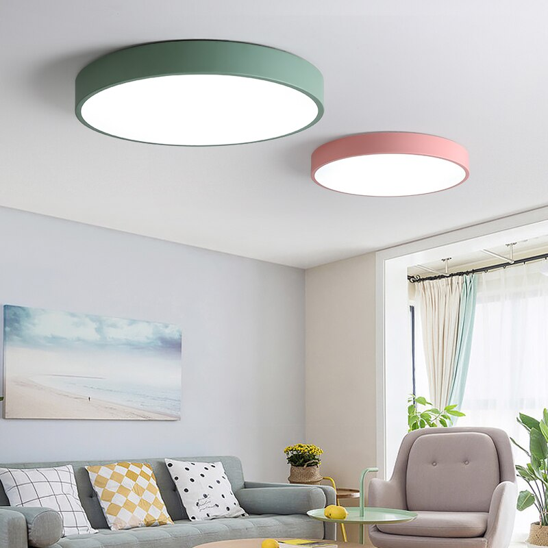 DAR-luces Led De Techo ultrafinas De 5cm, lámpara De araña redonda De...