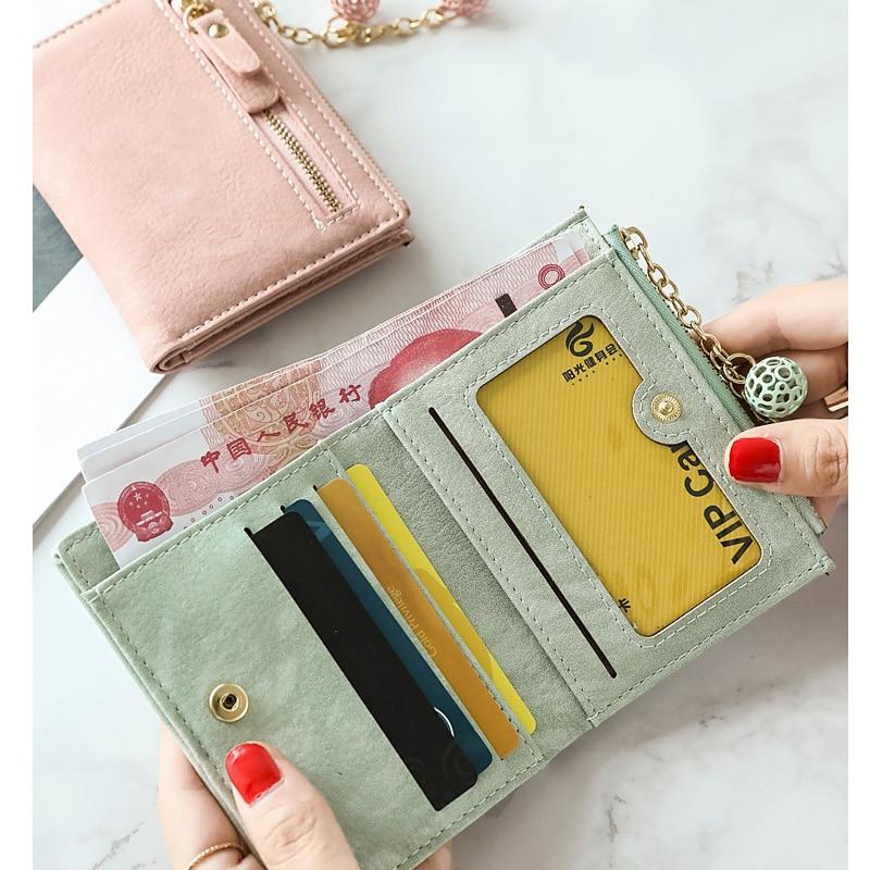 2018 New Small Women Wallet Mini Lady Wallets Female Purse Girl Money Bag Card Coin Holders Pocket Fold Multifunction Wallet