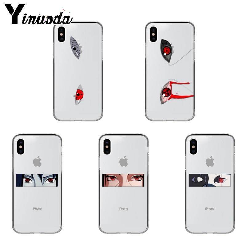 Yinuoda Аниме Наруто глаза Sharingan ТПУ Мягкий силиконовый чехол для iPhone Xr XsMax 8 7 6 6S Plus Xs X 5 5S SE 5C чехлы