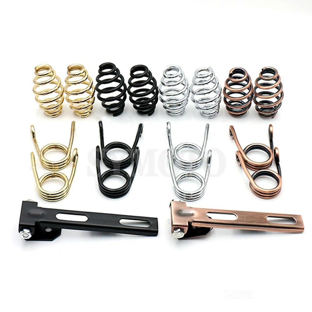 Solo Seat Saddle Seat Spring для Harley Dyna Fatboy Sportster Softail XL1200 XL883 Bobber Chopper XL 883 1200