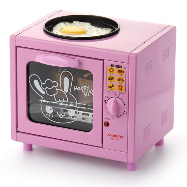 Free Shipping Hot Sale Mini Electric Breakfast Maker Oven multi-function bake box Fried eggs baking Pizzah HA012