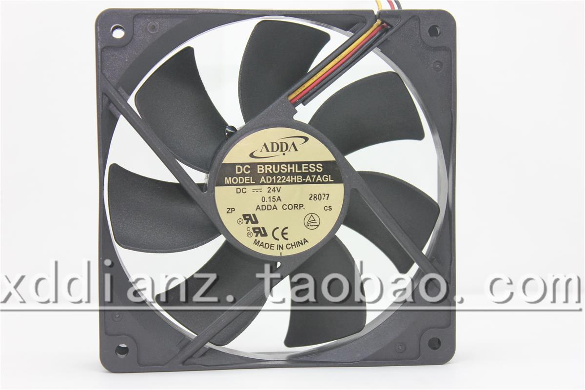 Original AD1224HB-A7AGL 12 CM 12025 24 V 0.15A três-função de detecção de fio do ventilador