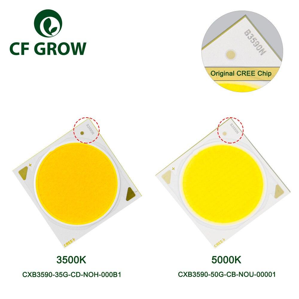 CF crecer LED crecer luz CREE COB CXB3590 3500K 5000K 12000LM Original Chip de alta potencia lúmenes para DIY planta de la lámpara